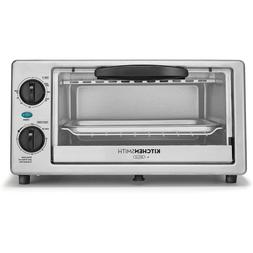1000W KitchenSmith 4 Slice Toaster Oven Stainless Steel Best