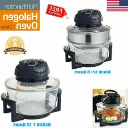 1200W 12/17Qt Wave Oven Halogen Convection Cooker Air Toaste