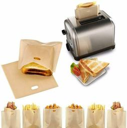 15 NonStick Toaster Bags Reusable & HeatResistant Great 4 Gl