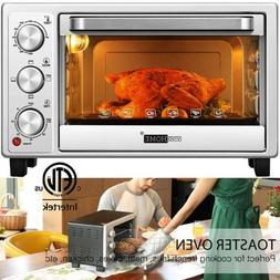 "VIVOHOME 16L 6 Slice Toaster Oven Broiler 10"" Pizza Baker Co"