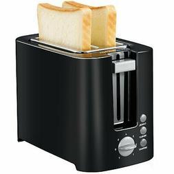 Bonsenkitchen 2-slice Black Toaster Small Compact Bread Toas
