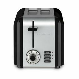 Cuisinart 2-Slice Compact Stainless Steel Toaster, Black Sta