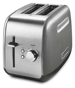 2 Slice Contour Silver Bread Toaster With Manual Lift Lever