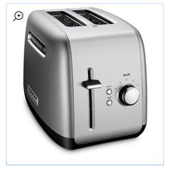 KitchenAid 2-Slice Contour Silver Toaster with Manual Lift L