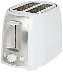 Brentwood 2 Slice Cool Touch Toaster ; White and Stainless S