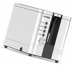BREVO 2-Slice Extra Wide Slot Toaster for Bagel Breakfast wi