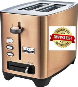 2 Slice Extra Wide Slot Toaster Color Copper 6 Browning Sett