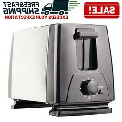 2 Slice Extra Wide Slot Toaster Stainless Steel Thick Bread