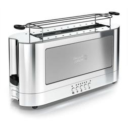 Russell Hobbs 2-Slice Glass Accent Long Toaster, Silver & St