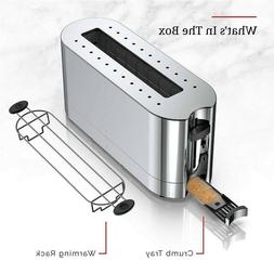 Russell Hobbs 2-Slice Glass Accent Long Toaster, Silver Stai
