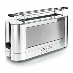 Russell Hobbs 2-Slice Glass Accent Long Toaster Stainless St
