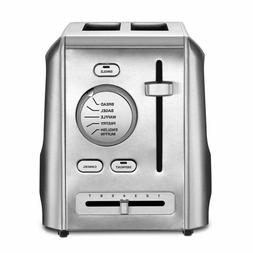 Cuisinart 2 Slice Metal Toaster Stainless Steel 1.5in Slots