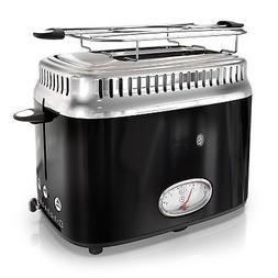 Russell Hobbs 2-Slice Retro Style Toaster, Black  Stainless