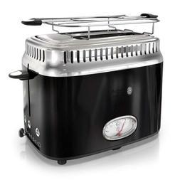 Russell Hobbs 2-Slice Retro Style Toaster, Black & Stainless