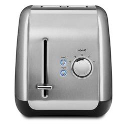 2-Slice Silver Wide Slot Toaster with Crumb Tray and Shade C