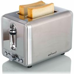 Fortune Candy 2 Slice Stainless Steel Bread Toaster with Ext