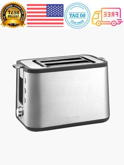 2-Slice Stainless Toaster Defrost Warming Rack Re-heater Bre