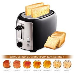 2-Slice Toaster, 7 Temperature Levels,Toaster for Bagels wit