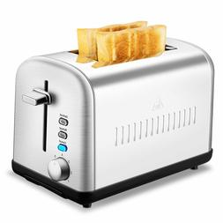 2 Slice Toaster, and Removable Crumb Tray, Stainless Steel T