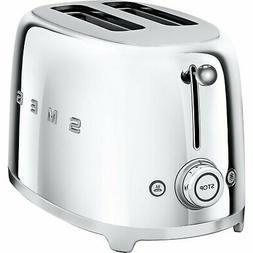 SMEG 2-Slice Toaster Chrome