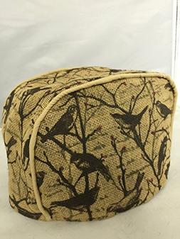 2 Slice Toaster Cover  / Burlap, Bark & Swallow