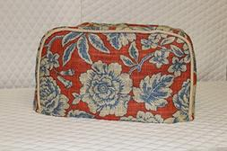 2 Slice Toaster Cover  / Burlap, Red Waverly