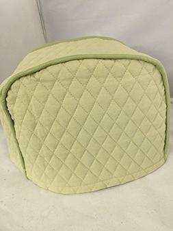 2 Slice Toaster Cover  / Quilted Double Faced Cotton, Sage