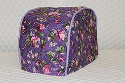2 Slice Toaster Cover  / Quilted Double Faced Cotton, Grape