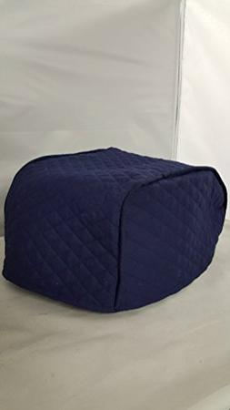 2 Slice Toaster Cover  / Quilted Double Faced Cotton, Navy