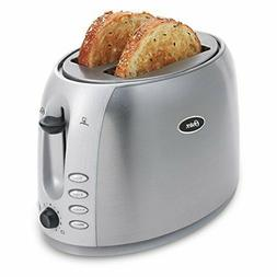 Oster 2-Slice Toaster, Brushed Stainless Steel  Silver