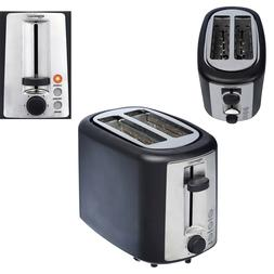 2 Slice Toaster Extra-Wide Slots w/ Crumb Tray 6 Shade Setti