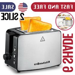 2-Slice Toaster For Bread Extra Wide Slots Cancel Function S