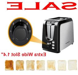 2 Slice Toaster For Rv Camper Compact Mini Bagel Bread Stain