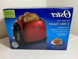 Oster, 2-Slice Toaster, Metallic Red, 7 Settings,Cancel Butt