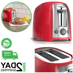 2 Slice Toaster Red For Bagel Function Extra Wide Toasting B