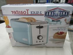 Americana Classics 2 Slice Toaster/ Retro Blue - NEW IN BOX