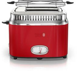 RUSSELL HOBBS 2-Slice Toaster Retro w/ Removable Crumb Tray,