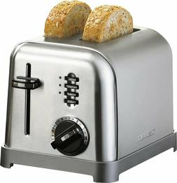 2 Slice Toaster Slide Out Crumb Tray Metal Classic Toaster S