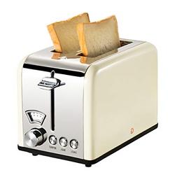 2 Slice Toaster Stainless Steel Wide Slot Removable Crumb Tr