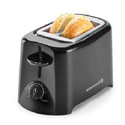 2 Slice Toaster With Removable Crumb Tray Bagel - Black
