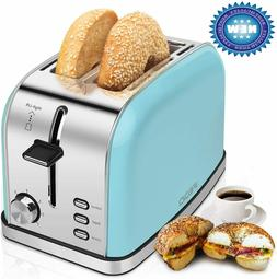 2-Slice-Toasters Bread Stainless Steel Compact Toaster Extra