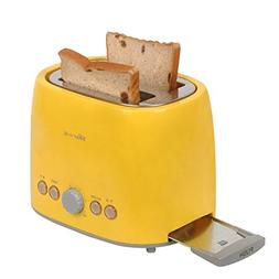 2 Slice Wide Slot Stainless Steel Toaster Bread Kitchen Home