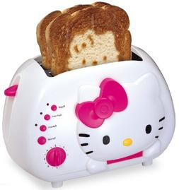 Hello Kitty 2-Slice Wide Slot Toaster with Cool Touch Exteri