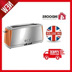 Russell Hobbs 24310 Luna 2 Slice Long Slot Toaster in Copper