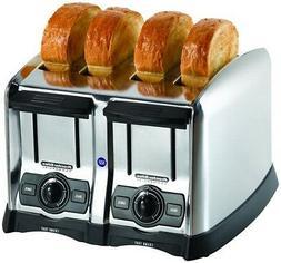 PROCTOR SILEX 24850 Toaster, Brushed Chrome,4 Slice