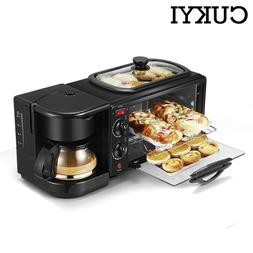 CUKYI 3 In 1 Electric Breakfast Machine Multifunction Coffee