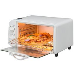 iPstyle 4-Slice Toaster Oven Broiler Stainless Steel Extra-l