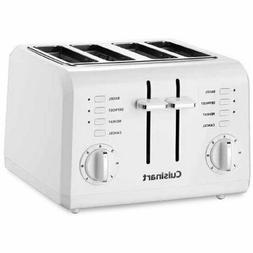 Cuisinart 4-Slice Compact Plastic Toaster, White bagel rehea