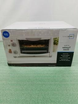 4 Slice Electric Toaster Oven Countertop Stainless Steel Toa