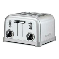 4-Slice Graphite and Metallic Stainless Steel Toaster with C